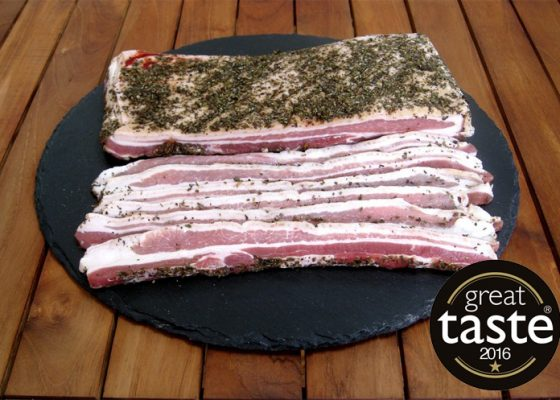 Streaky Bacon with Sage