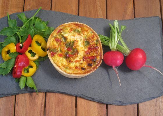 Ham, Cheese & Pepper Quiche